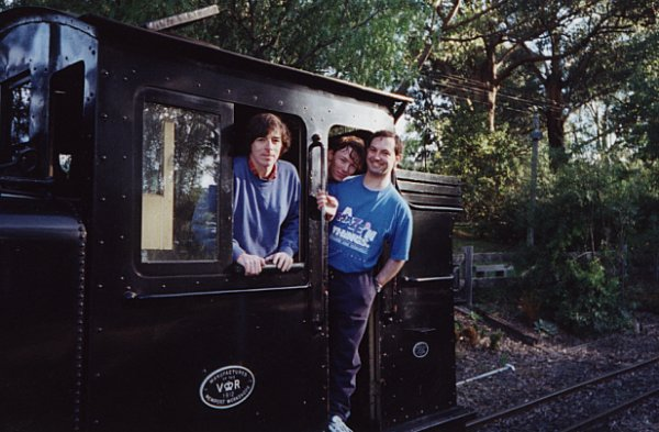 david, andy and tony on some kind of train. I wasn't paying much attention.